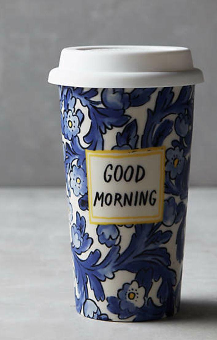 Anthropologie: Good Morning Travel Mug
