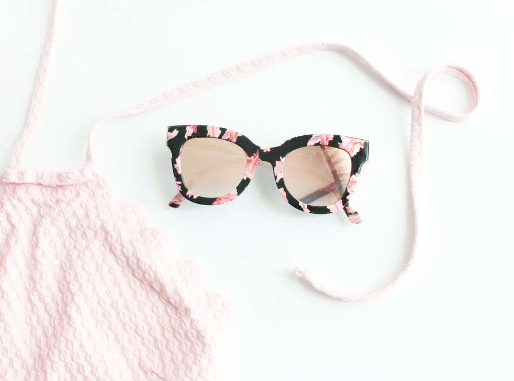 Kate Spade Swim Suit  / Sunnies are from  The Clothing Bar  (They ship!)