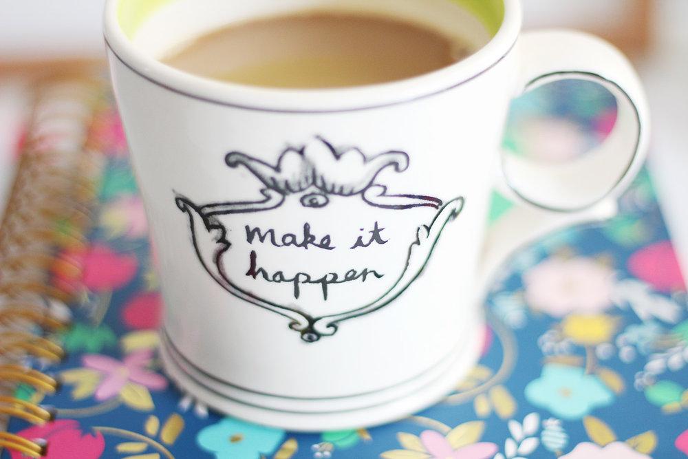 Make It Happen Anthropologie Mug
