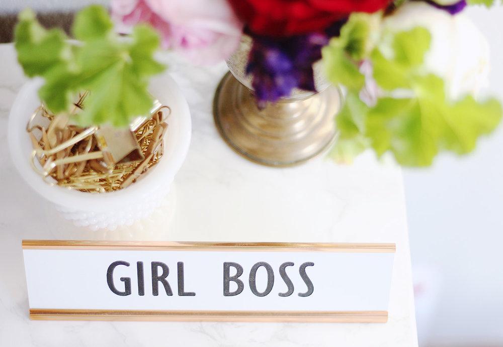 Girl Boss Name Plate