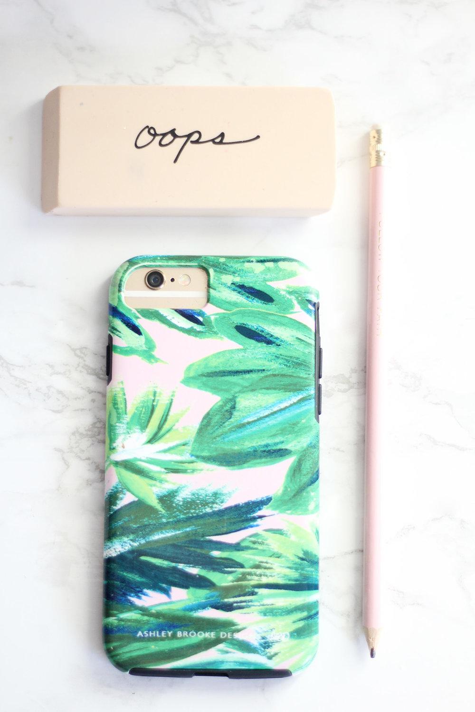 Sugar Paper LA Eraser Ashley Brooke Design Phone Case