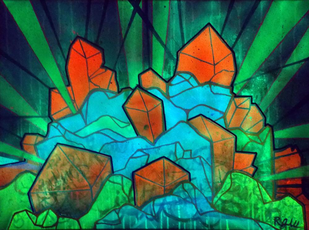 Crystallize (w/ blacklight)