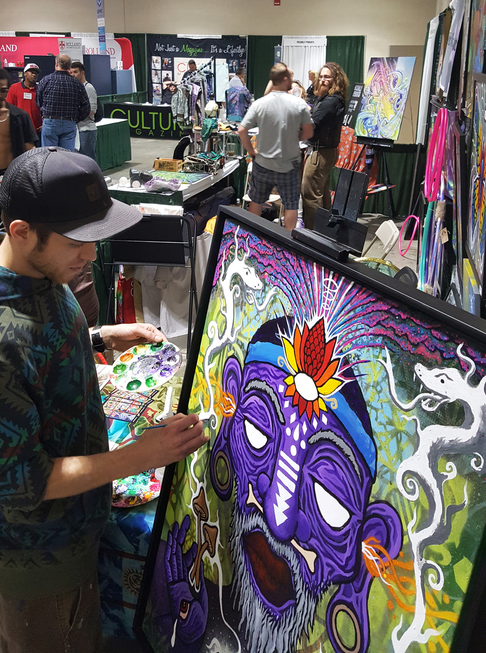 Live painting on  The Witch Doctor  at NECC