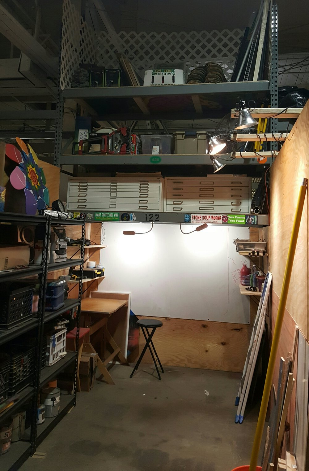 Full studio from the entrance.