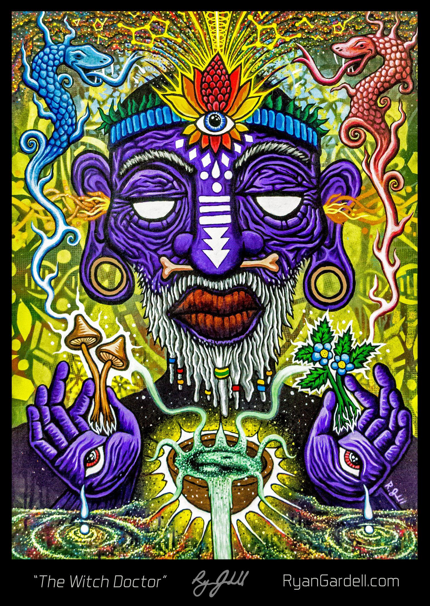 The Witch Doctor - Original Painting Release — Artifakt Studioss