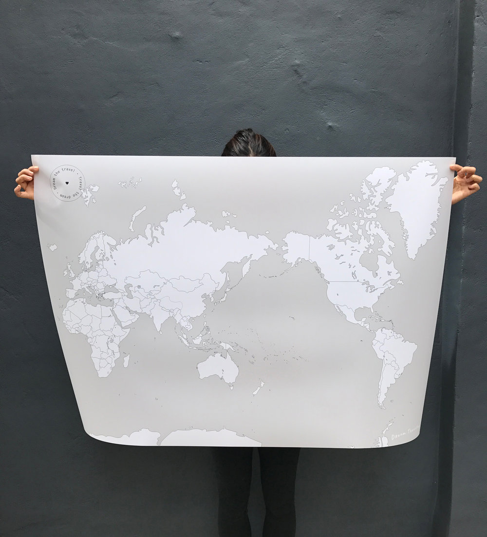 1A. Large World - A0 size (1189 x 841mm)–SPECIAL PRICE: Base map reduced from $150 to $130