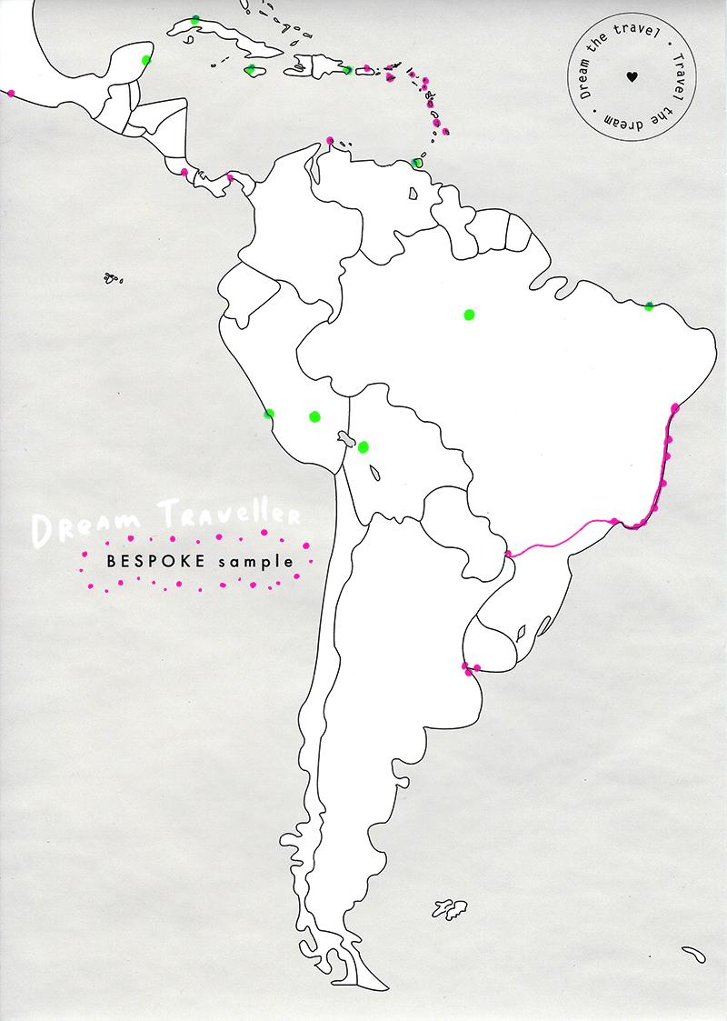 e.g. Neon Pink/Green dots.