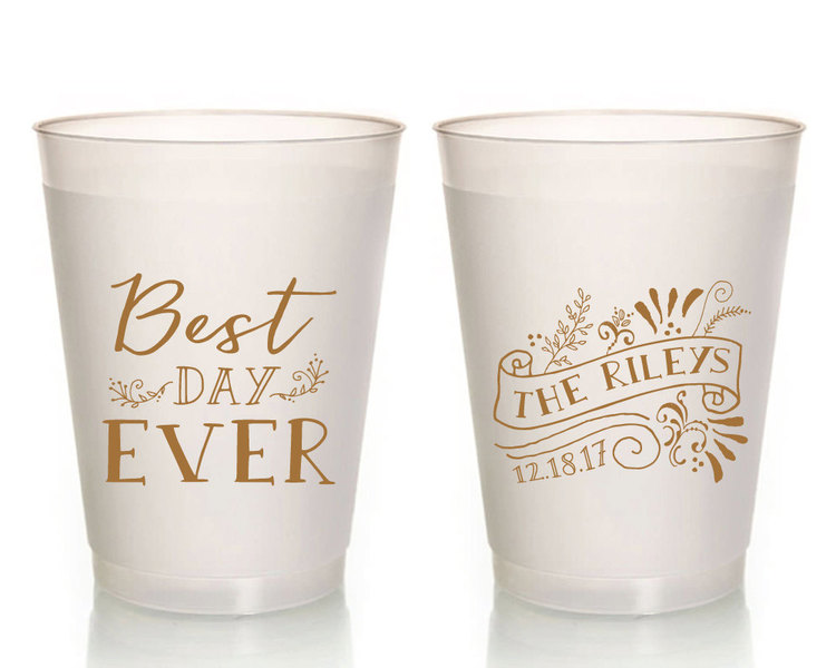 wedding cups best day ever wedding cups best day ever wedding favors plastic cups personalized wedding gifts housewarming party 1368