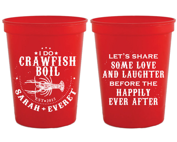 personalized plastic cups i do crawfish boil cups wedding cups custom plastic cups monogrammed cup bbq shower crawfish reception 1048