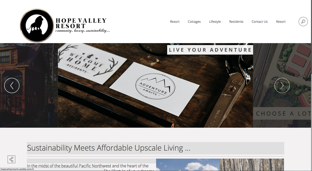 Hope Valley Resort Website