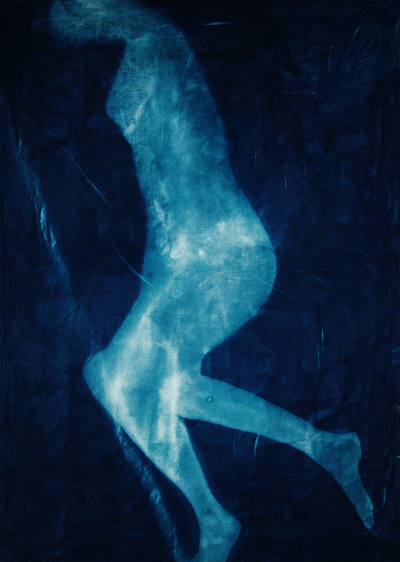 Cyanotypes on fabric
