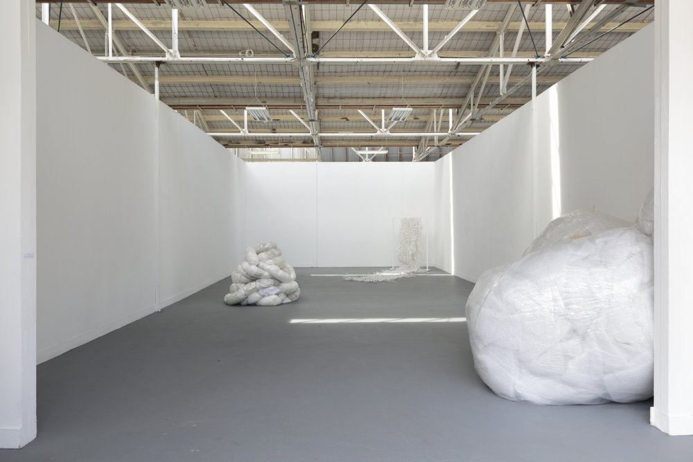 Accretions in white after Eva Hesse