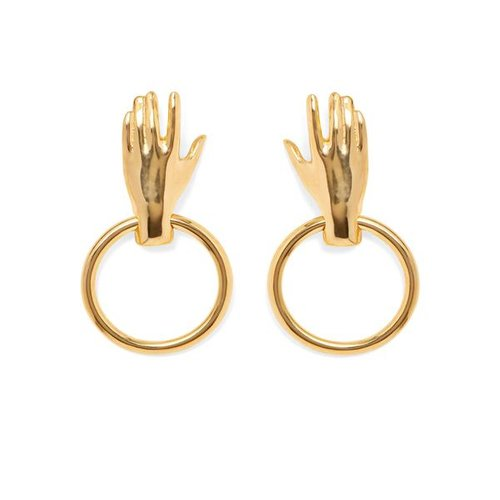 grey lady grande gold new silhouette earrings aquelarre jewelry