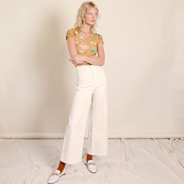 Embrace the wide leg. The Woody Pants in white - {coffee and driving not recommended}