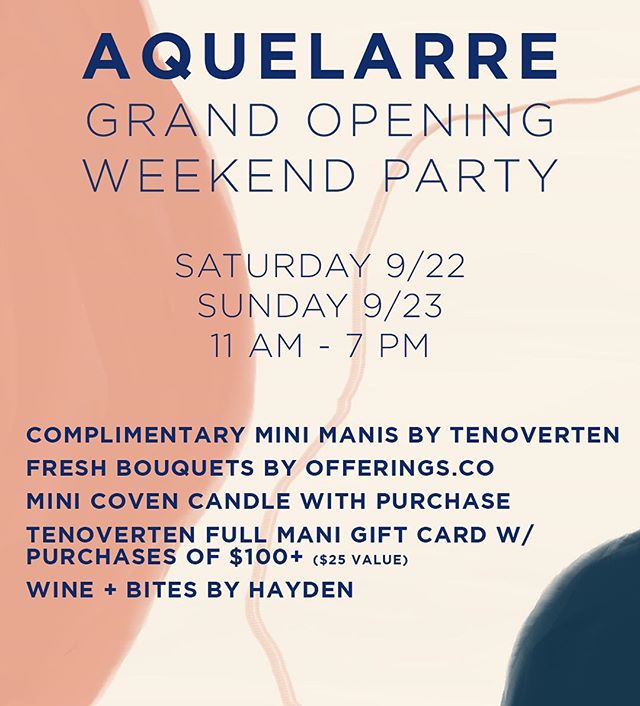 Come celebrate or Grand Opening with us!! Shop beautiful bouquets from @offerings.co, complimentary mini manis from @tenoverten 💅🏻Plus wine & snacks from @haydenwineba 🥂