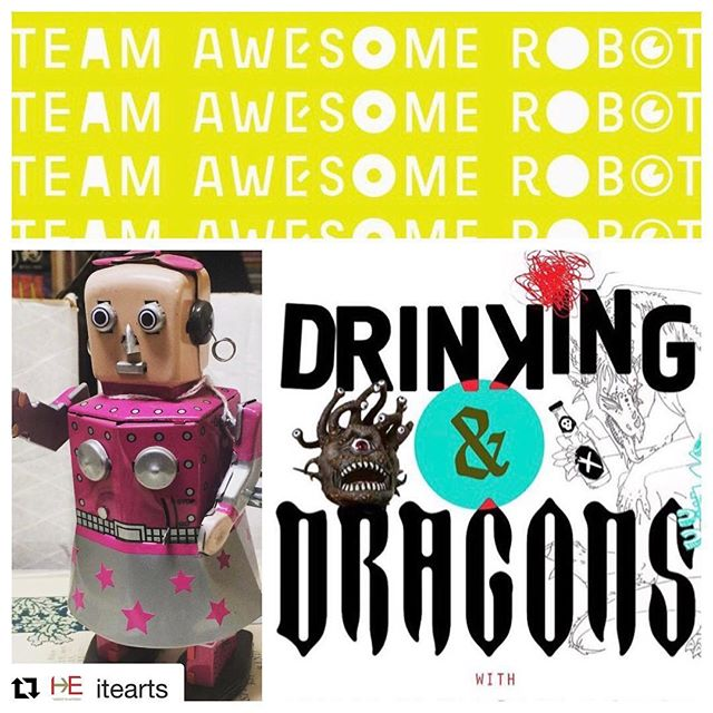 The Robots and ITE are working hard and cannot wait to bring Drinking & Dragons back! Stay tuned for cast updates!  #Repost @itearts with @get_repost ・・・ @teamawesomerobot and #ITEarts would love to see you at the second annual #DrinkingAndDragons event at Royal Family in #Midtown ✨ Think #DungeonsAndDragons with #Wine and #Beer and #imagination 🎭 #LinkInBio 🎟 #TheatreThursday #TheatreLife #Actor #ActorsOfInstagram #LiveTheatre #Acting #Drama #NYCevent #NYCperformance #SpaceGrant #ArtsCurator #Nonprofit #SupportTheArts #SupportTheatre #NYCtheatre #ArtForEveryone #NYC