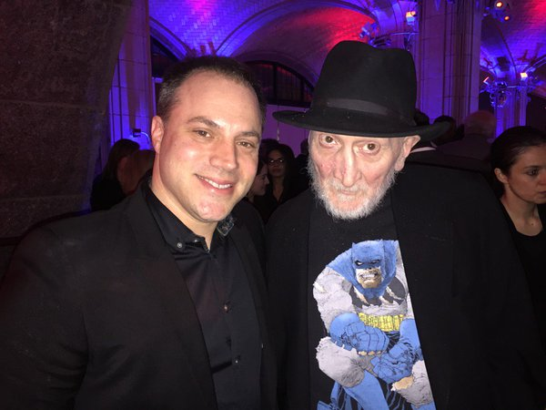 Geoff Johns with the legendary Frank Miller