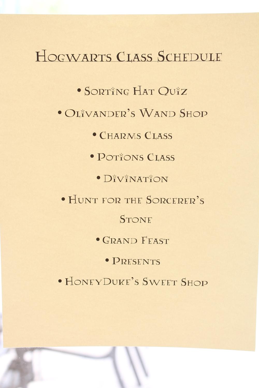 Hogwarts Class Schedule