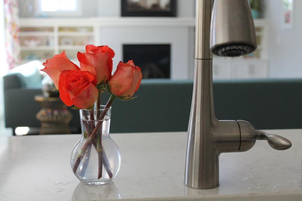 Bud Vase by the Kitchen Sink