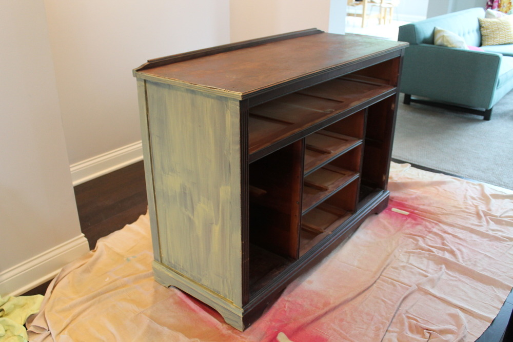 Yellow Sideboard with Milk Paint