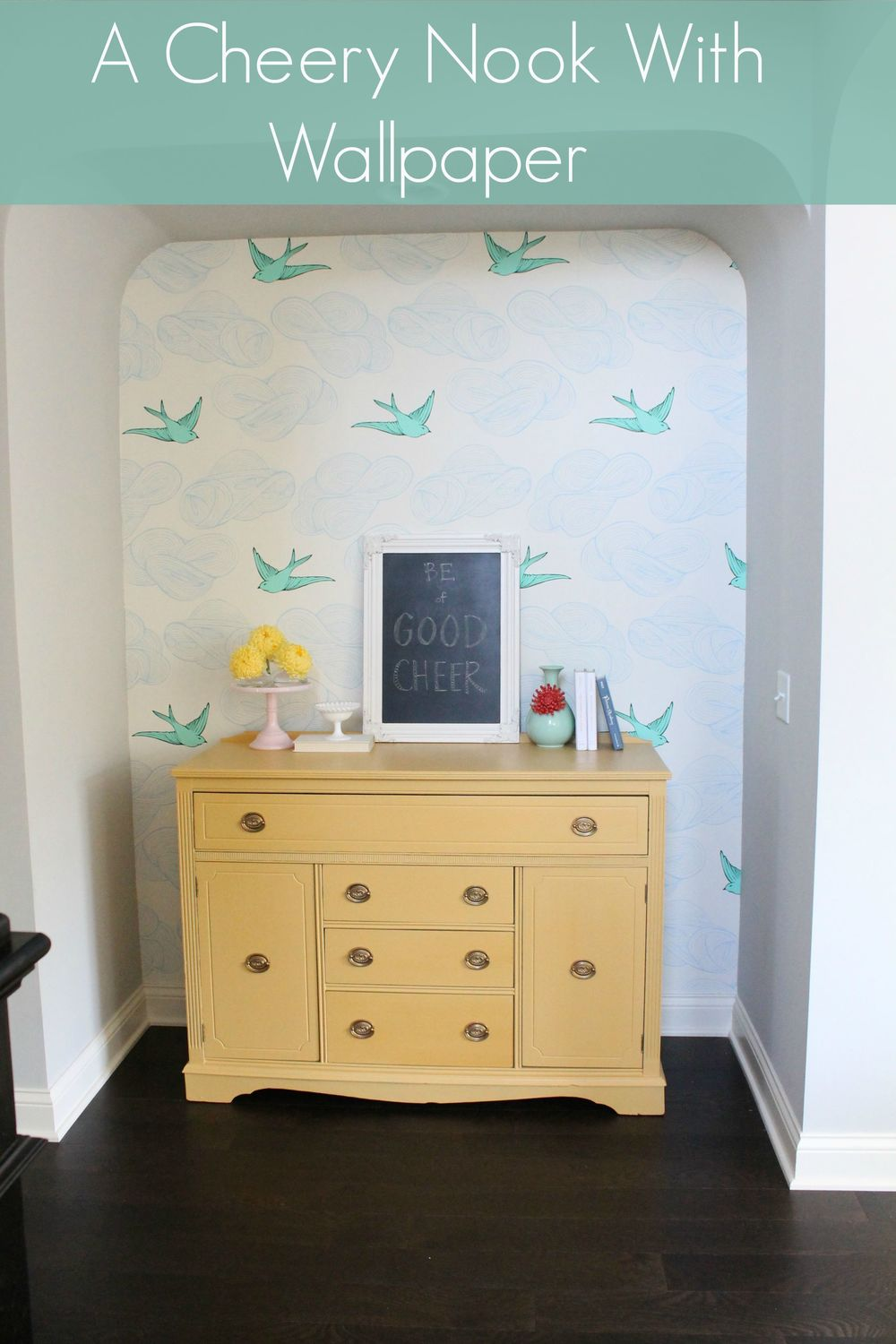 Cheery Nook with Wallpaper