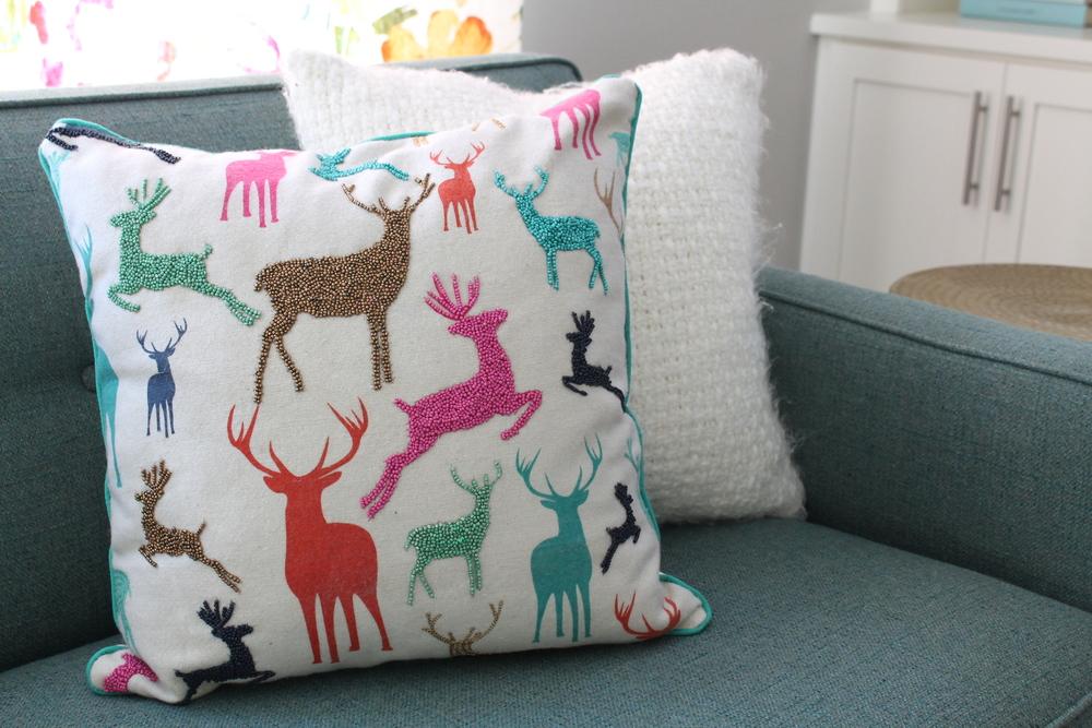 Target Reindeer Pillow