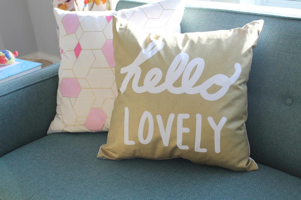 Gold Target Pillow