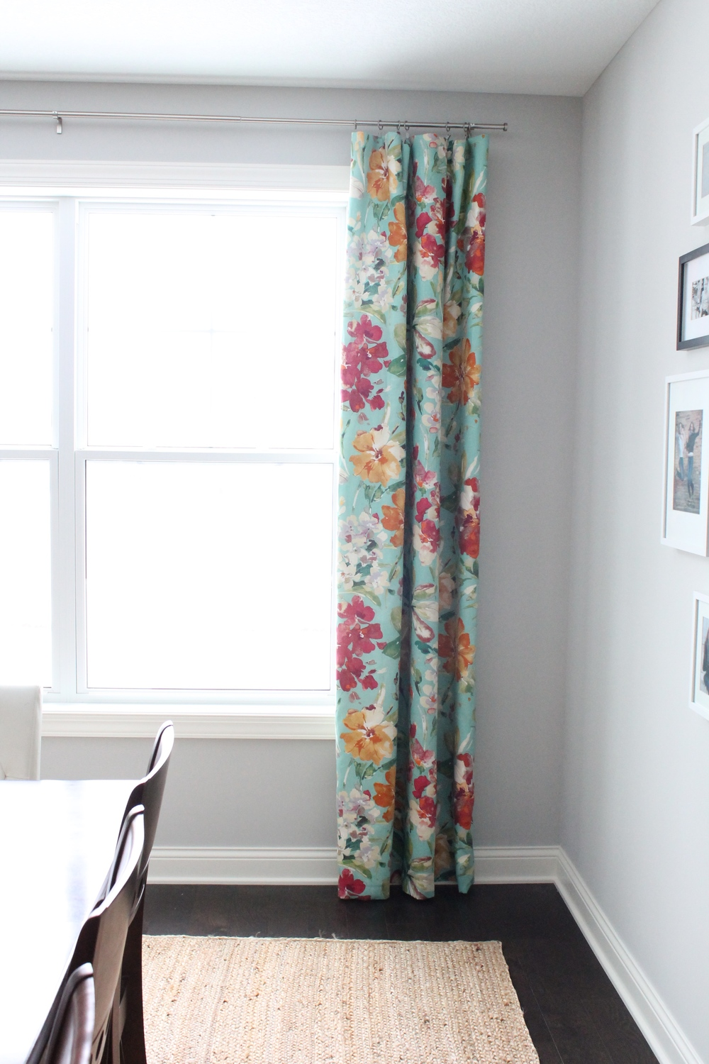 Floral Dining Room Curtains