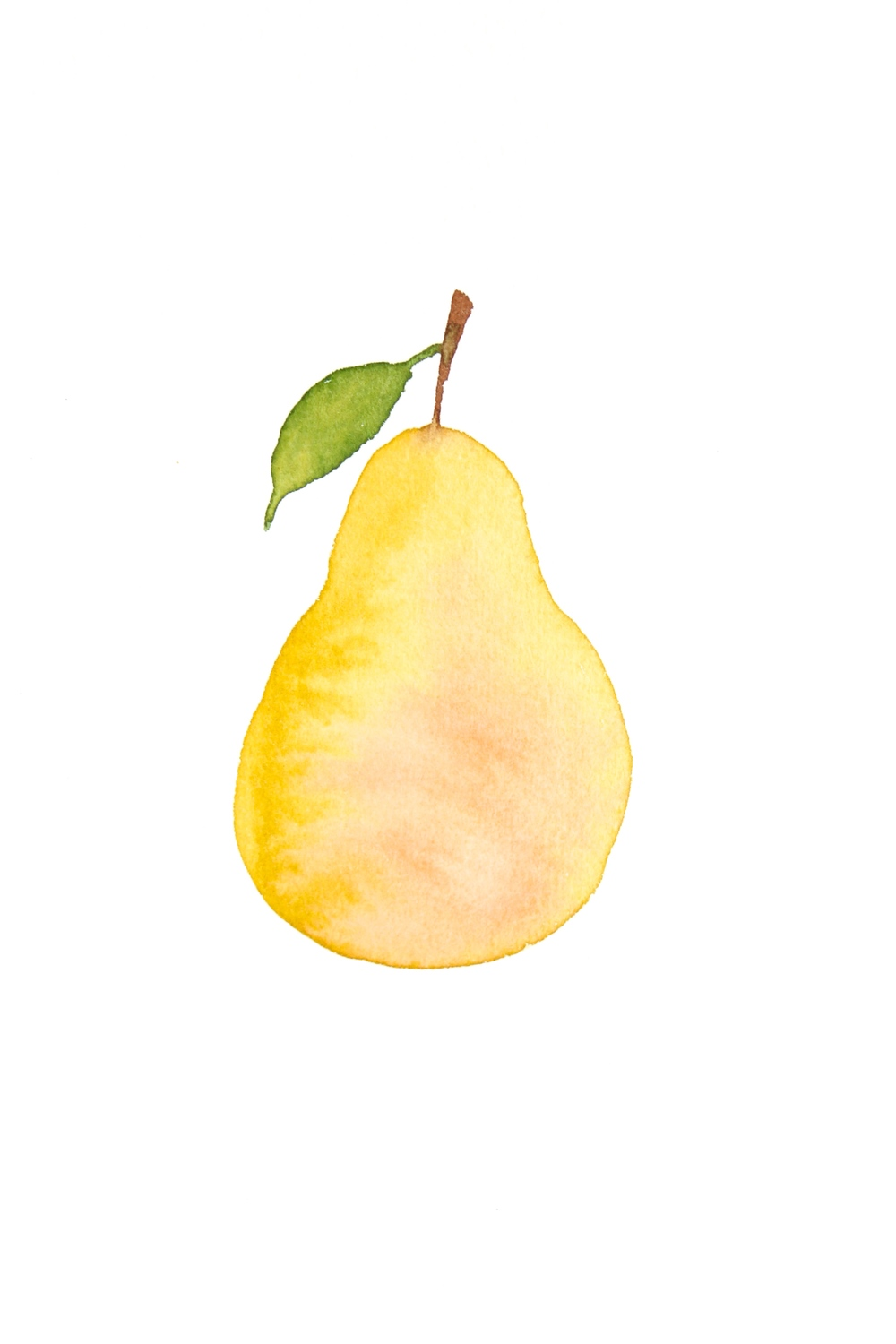 DIY water color pear for the kitchen.