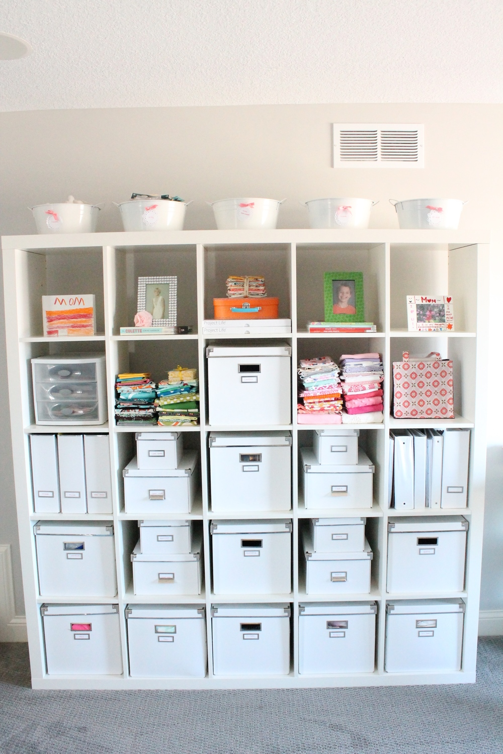 Craft room storage idea.