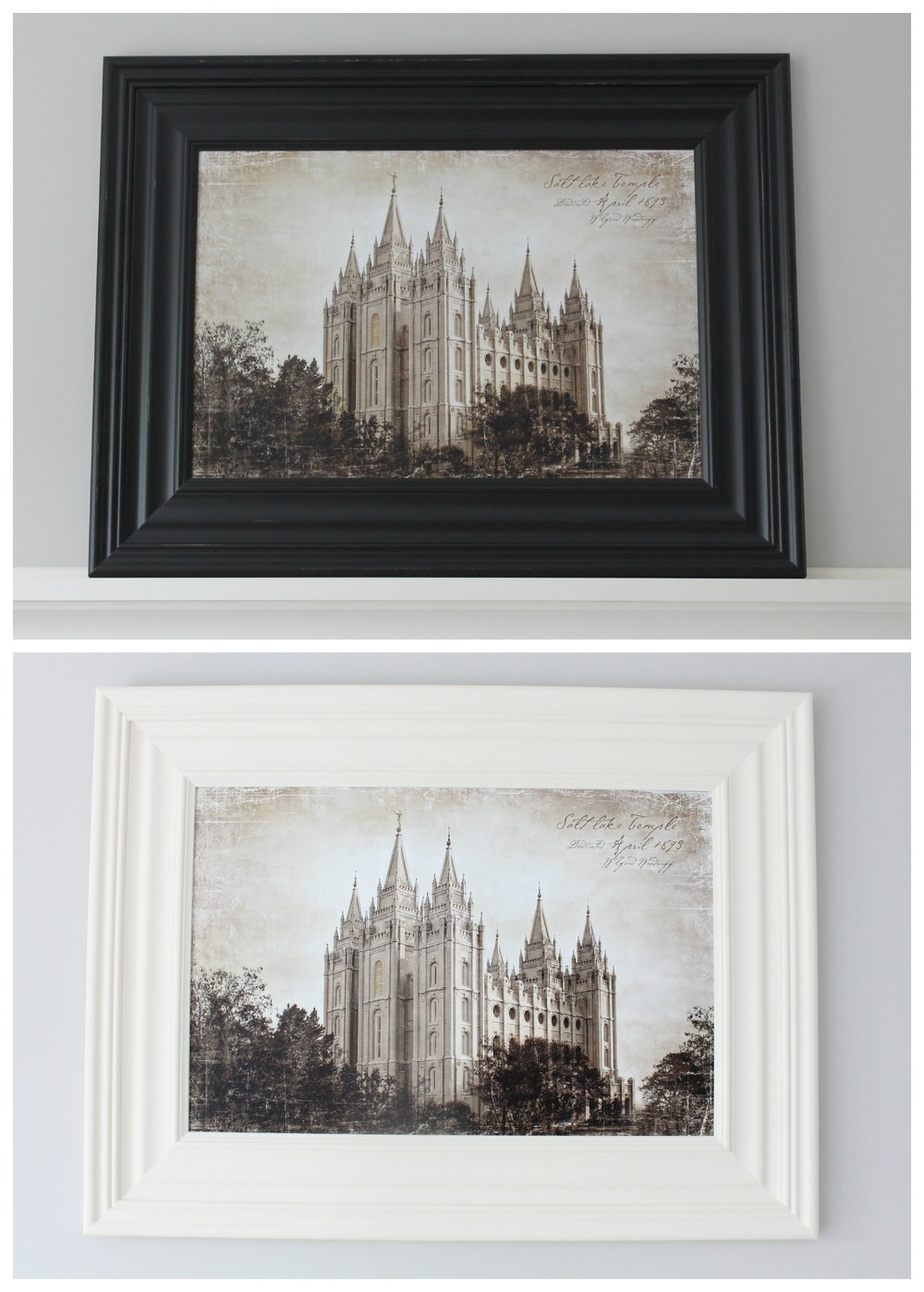 Painting a Frame With Chalk Paint — Tessie Fay