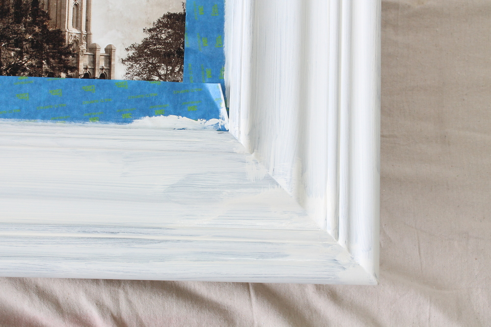 Painting a frame with Chalk Paint