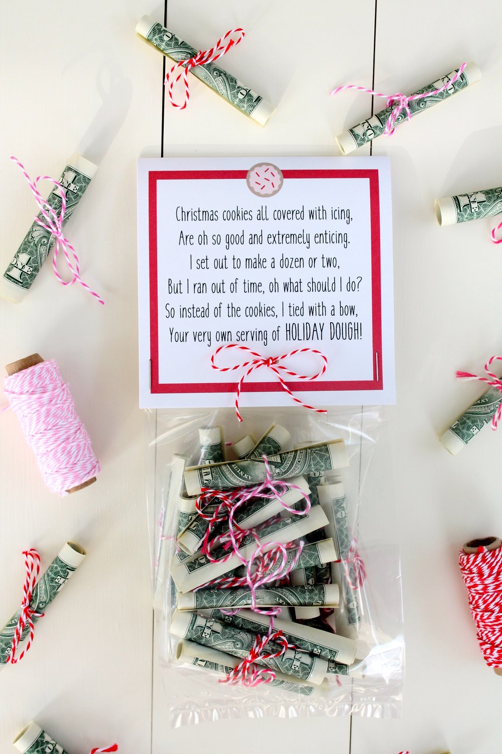 Free Christmas Money Printable. A fun way to give cash for Christmas.