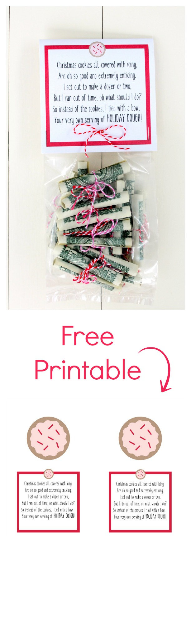 Christmas Money Free Printable. Fun way to give cash for Christmas.