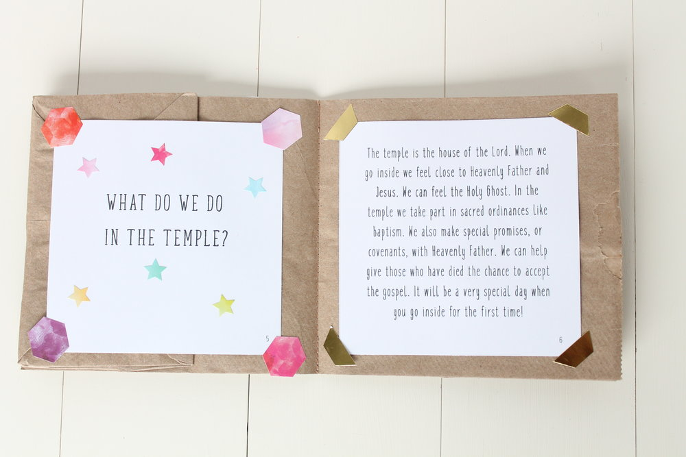 LDS temple Printable free primary scrapbook