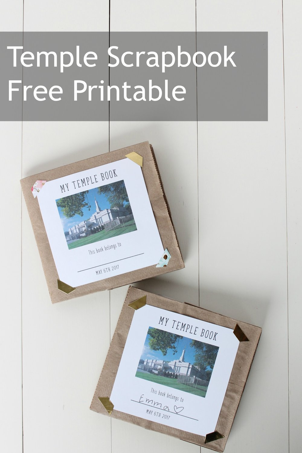 Primary Temple Activity Free Printable Scrapbook