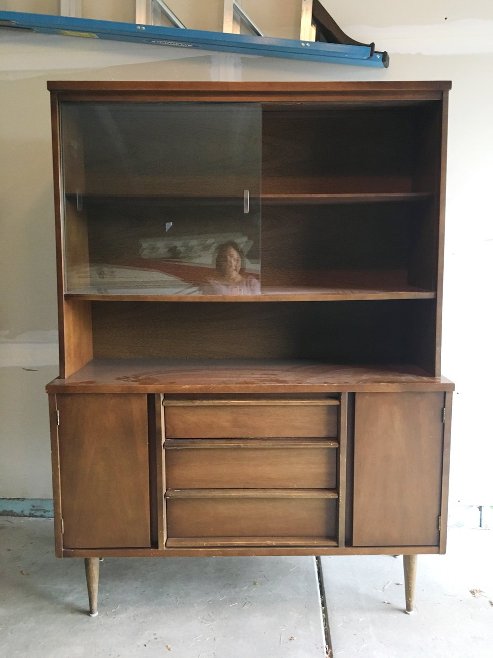 Mid Century Hutch Before Shot