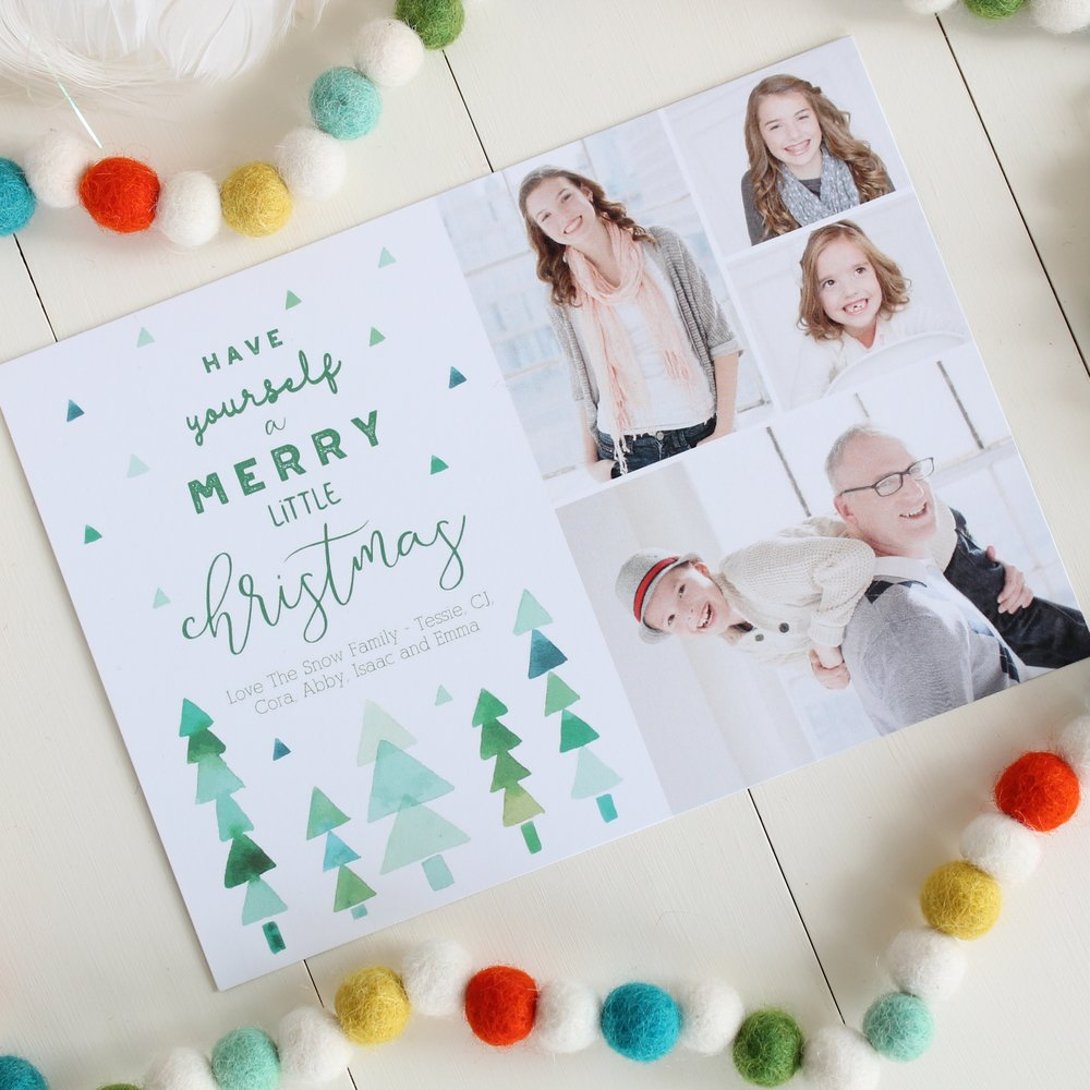 Holiday Cards by Mixbook. Designed by Tessie Fay.
