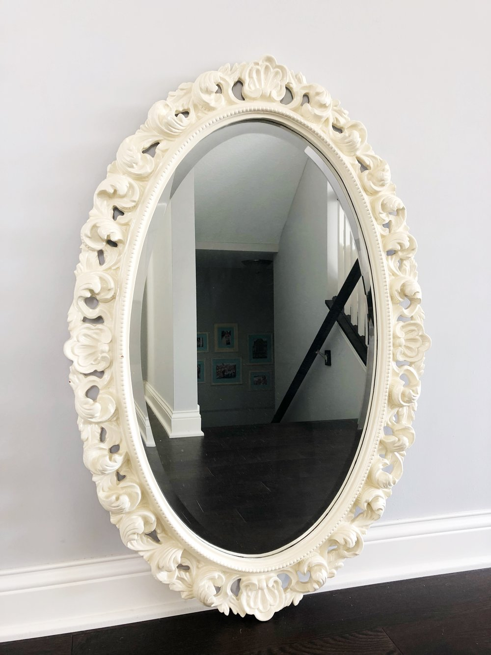 Spray Painted Thrift Store Mirror