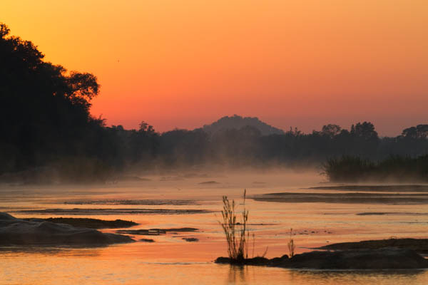 River at sunrise