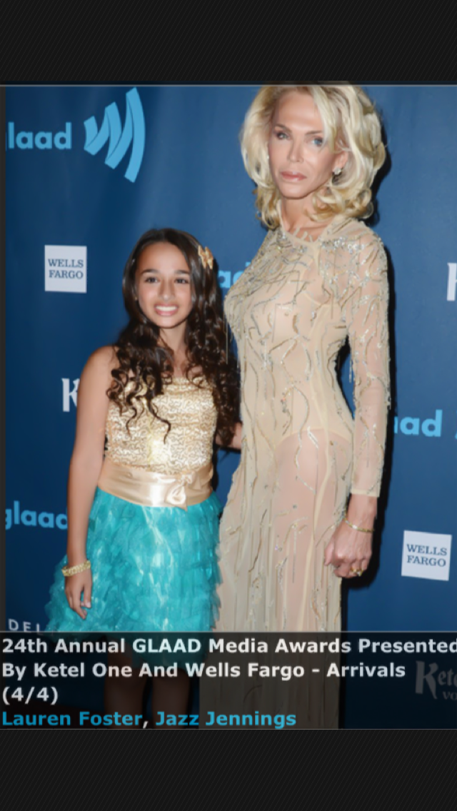 Walking the red carpet with Jazz LA GLAAD Media Awards 2013