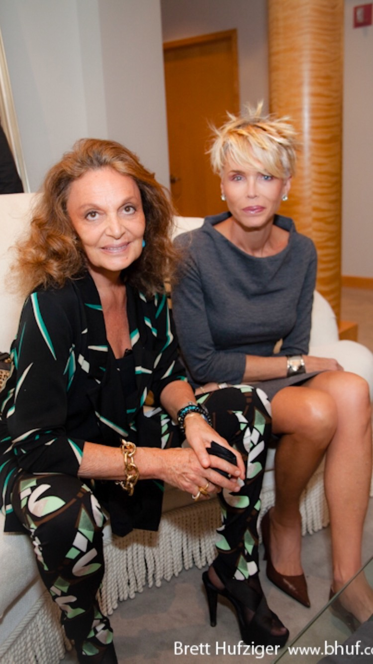 With the only Diane Von Furstenberg