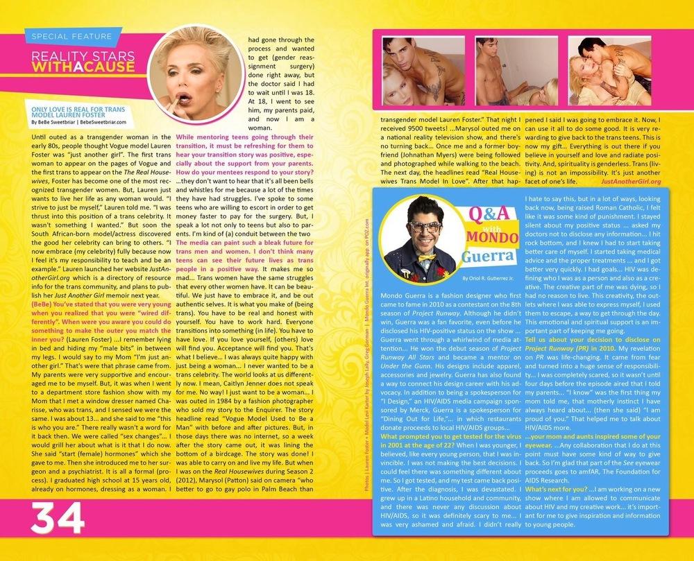 GLOSS magazine interview December 2015 issue