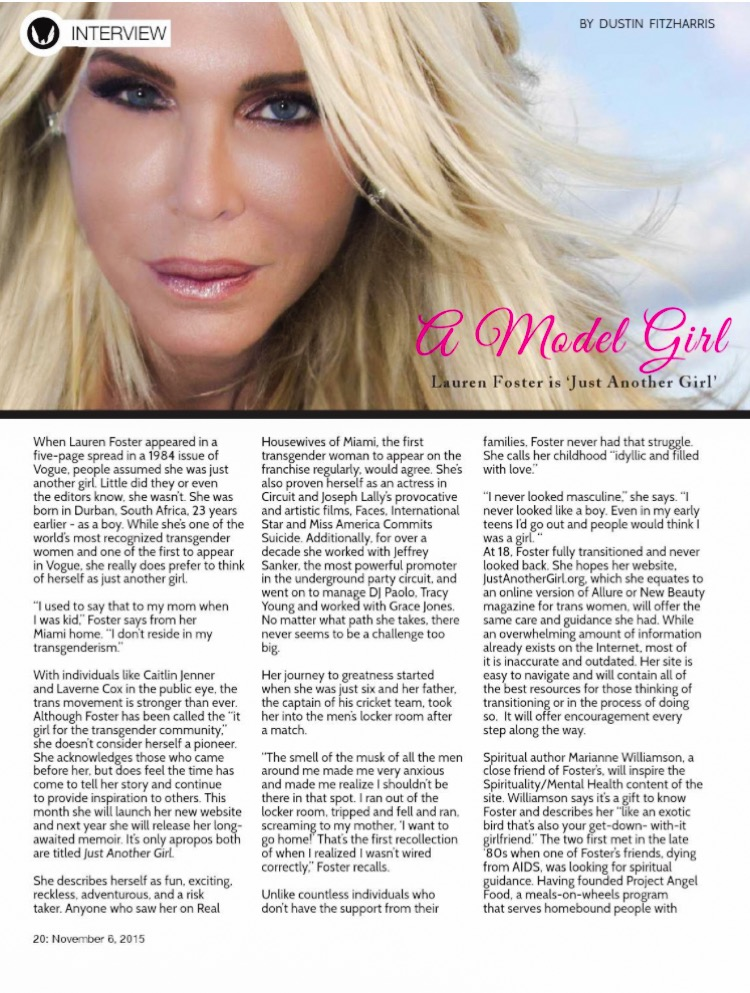 FENUXE magazine interview