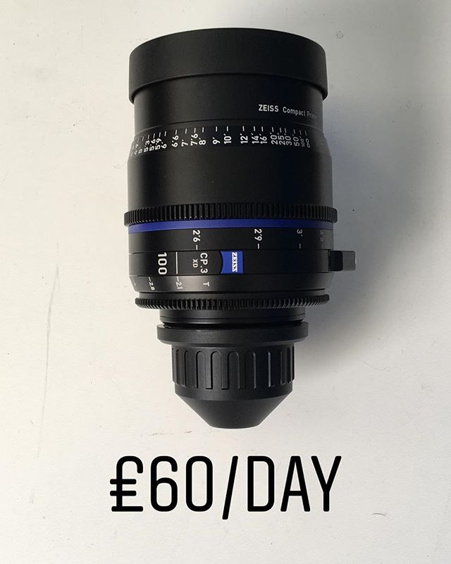 Carl Zeiss 100mm T2.1 CP.3 PL Mount lens for use with RED, Arri and Sony Digital Cinema cameras - £60/day. To book call 0121 572 3893 or visit www.photovideokithire.com #carlzeiss #zeiss #100mm #t21 #lens #cinelens #cine #redcamera #arri #alexa #sony #f55 #fs7 #plmount