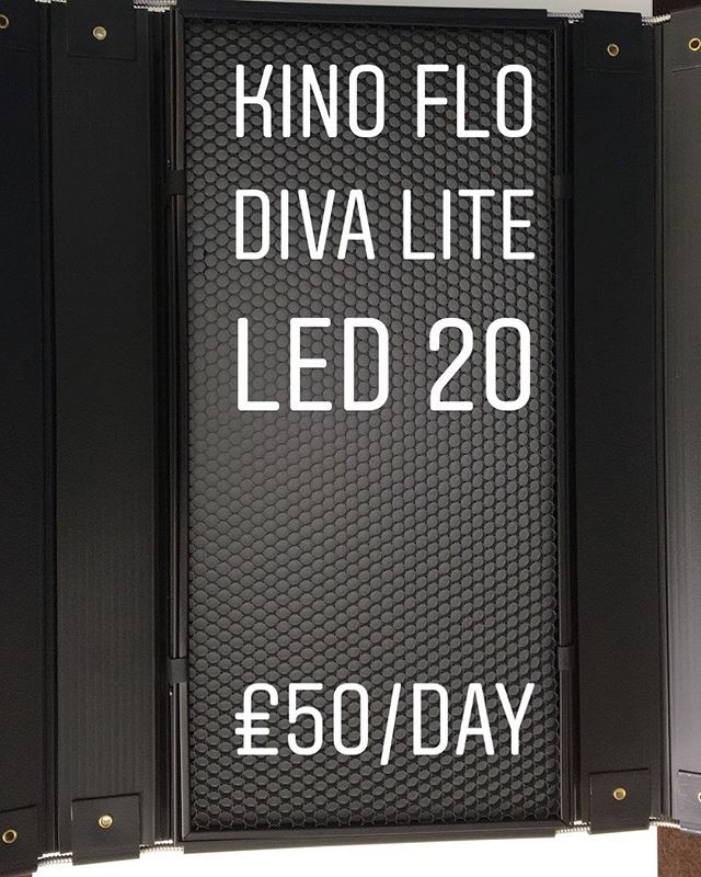 Kino Flo Diva Lite 20 with stand - £50/day. To book call 0121 572 3893 or visit www.photovideokithire.com #kinoflo #led #lighting #dop #diva #light #musicvideo