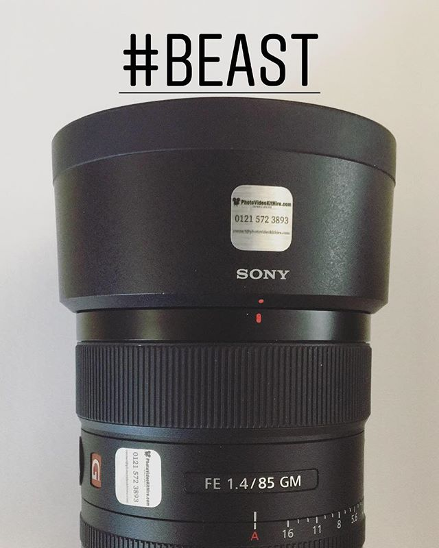 Sony 85mm f1.4 G Master lens available for hire.... only £30/day. To book call 0121 572 3893 or visit www.photovideokithire.com #sony #85 #14 #85mm #lens #gmaster #photography #film #filmmaking