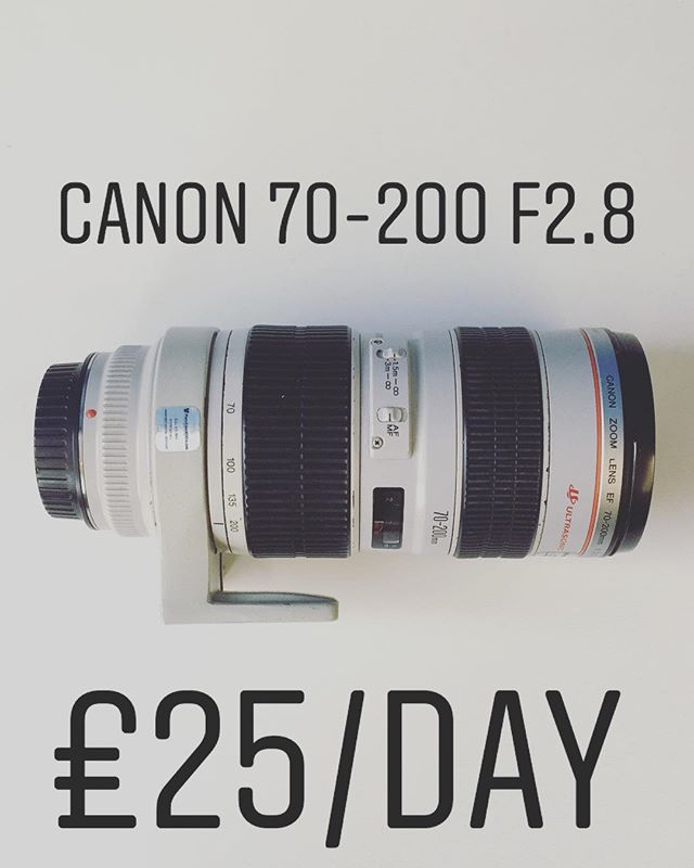 Canon 70-200 f2.8 available for hire, £25/day. To book call 0121 572 3893 or visit www.photovideokithire.com #canon #70200 #f28 #rent #hire #rentme
