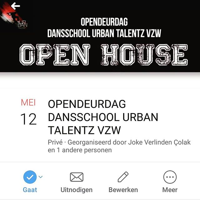 Op zondag 12 mei 2019 organiseren we onze OPENDEURDAG! Jij komt toch ook? Schrijf je in via info@urbantalentz.be 👌! Tot dan! #2800love #2800 #2800liefde #opendeurdag #dance #lifeofurbantalentz