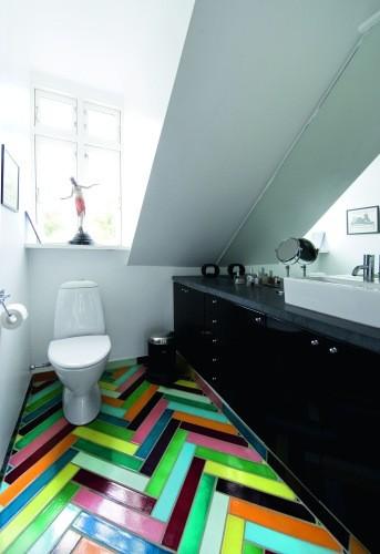 rainbow floor tiles